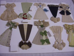 Paper doll outfits made by Hope Turner of Marietta, Ohio, from the collections of the Ohio Historical Society