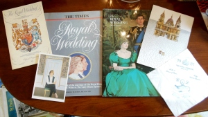Items from Pauline's collection of Royal Wedding ephemera