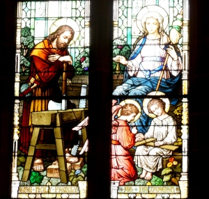Stained glass window, St. Joseph Cathedral