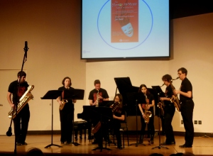 "Otterbein University saxophone players performing ""The Animal Fugue"""