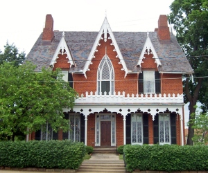 Oak Hill Cottage, the Gothic Revival home in Mansfield that was the focal point of Bromfield's first novel, The Green Bay Tree