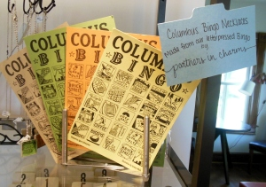 Columbus bingo cards, for sale at Igloo Letterpress