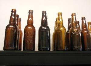 Vintage beer bottles at Buckeye Brewcraft
