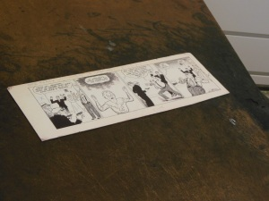 Chester Gould's drawing board, Billy Ireland Cartoon Library & Museum