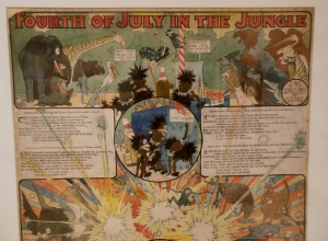 Detail of Winsor McCay's Fourth of July in the Jungle, Billy Ireland Cartoon Library & Museum