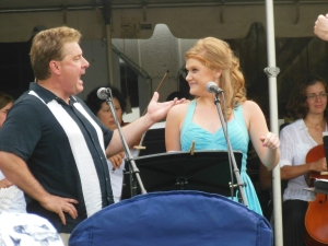 Cassie and Cabot Rea performing with the Westerville Symphony Orchestra