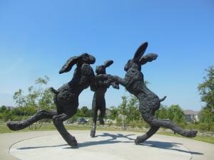Dancing Hares, Ballantrae Community Park