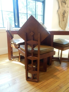 Table and chairs designed by Theodore Van Fossen for Wakefield home, Rush Creek Village