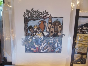 Print by Evangelia Phillipidis, 42nd Annual Greek Festival, Columbus, Ohio