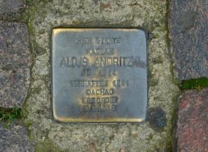 Stolperstein for Blessed Alois Andritzki, Dresden, Germany