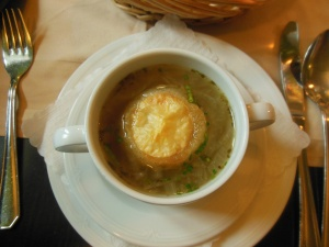Weimar onion soup, Frauentor, Weimar, Germany