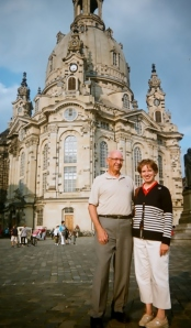 In front of the Frauenkirche, Dresden
