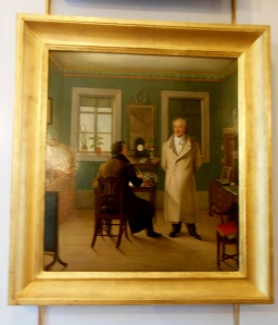 Painting of Goethe and his secretary in his study, Anna Amalia Library