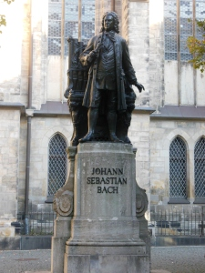 Bach statue, St. Thomas Church, Leipzig