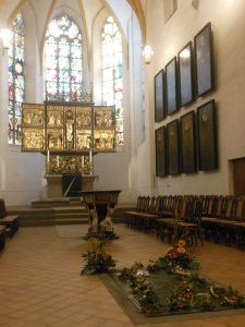 Bach's burial place, St. Thomas Church, Leipzig