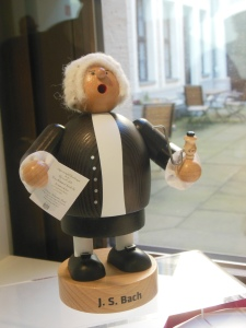 Bach smoker in the Bach Museum gift shop, Leipzig