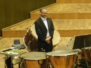 Mathias Müller after performing at the Gewandhaus