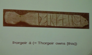 Photo of Runic writing, from Texts and Contexts