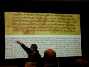 Elizabeth Ashman Rowe presenting at Texts and Contexts