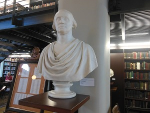 Bust of George Washington by Hiram Powers, Mercantile Library Association of Cincinnati