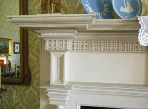 Mantel detail, Mount Oval