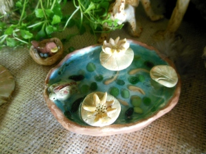 Fairy garden miniatures made by Julie Brunner