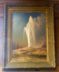 Yellowstone Geyser, Albert Bierstadt