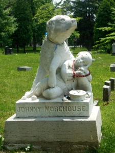 Johnny Morehouse monument, Woodland Cemetery