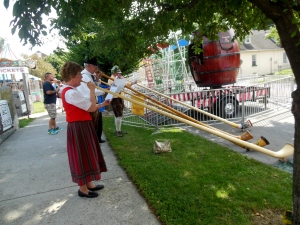 Alphorn players, St Mary Sesquicentennial Procession
