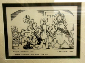 Original Lois Lenski drawing for Phebe Fairchild: Her Book