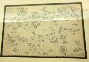 Lois Lenski's original drawing for the Skipping Village map