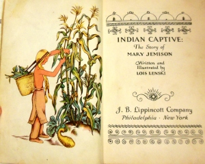Original Lois Lenski drawing for Indian Captive: The Story of Mary Jemison