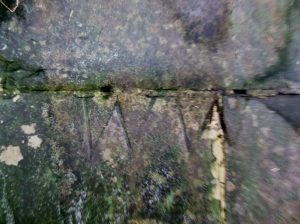 William Wordsworth's initials on the Rock of Names, Dove Cottage