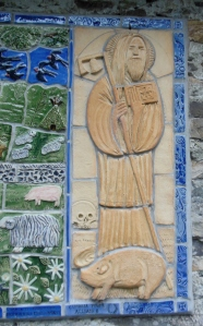 Detail of mosaic, St. Anthony's Church, Cartmell Fell