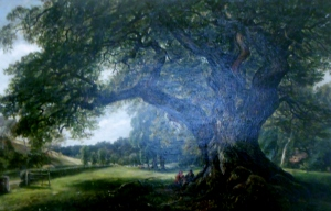 The Capon Tree, painted by Arthur Perigal in 1876, Jedburgh Castle Jail and Museum