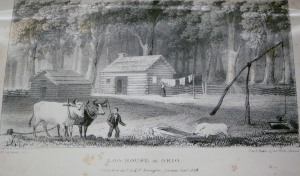 Log House in Ohio, by Henry Caswall, 1839
