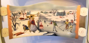 "Detail of Hitchcock limited-edition ""Winter Wonderland"" chair"
