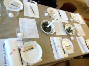 Ginny Baughman's pysanky workshop