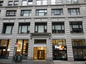 The New Yorker's first office, at 25 W. 45th St.