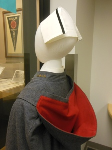 This style of uniform was worn by students at the Ohio State University College of Nursing from 1916 to 1950.