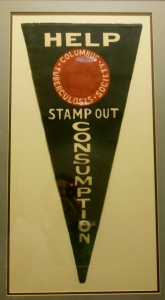 A 1906 pennant from the Columbus Tuberculosis Society.