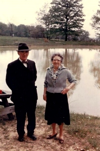 My great-grandparents, John and Julia Born, at Apple Hill